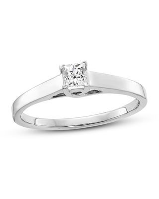 Jared Diamond Solitaire Engagement Ring 1/4 ct tw Princess 14K White Gold