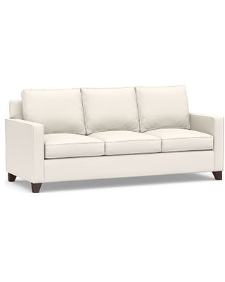 "Cameron Square Arm Upholstered Sofa 86"", Polyester Wrapped Cushions, Performance Chateau Basketweave Ivory"