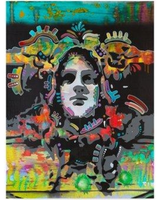 """Trademark Art 'Psyche Graphic Art Print on Wrapped Canvas ALI34092-CGG Size: 32"""" H x 24"""" W x 2"""" D"""