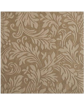 Safavieh Impression Wool Light Brown Area Rug IM344D Rug Size: Square 6'