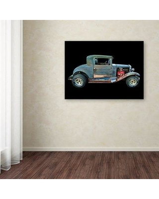 "Winston Porter 'Old Rusted Coupe' Photographic Print on Wrapped Canvas WNPO5405 Size: 14"" H x 19"" W"