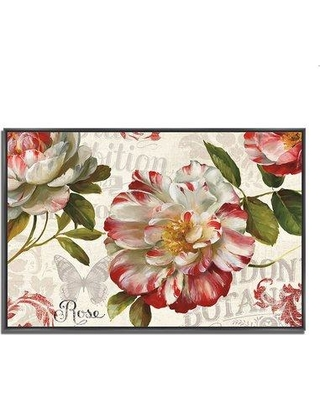 """Ophelia & Co. 'Spring Flair I' Framed Graphic Art Print W000224922 Format: Black Floater Framed Size: 30"""" H x 43"""" W x 1.5"""" D"""