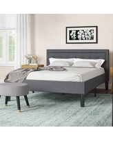 Huge Deal On Pinheiro Tufted Upholstered Platform Bed Wrought Studio Color Gray Size Queen