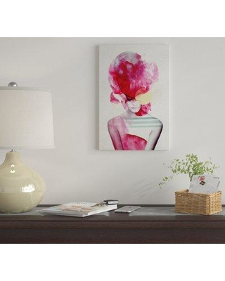 """East Urban Home 'Bright Pink II' By Jenny Rome Graphic Art Print on Canvas EUME2403 Size: 60"""" H x 40"""" W x 1.5"""" D"""