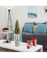 The Holiday Aisle® 2' Flocked Artificial Christmas Tree in Gray/Green, Size 24.0 H x 5.0 W x 5.0 D in | Wayfair D97B2413BC424FA79445932FA9CE6157