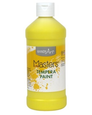 Little Masters Tempera Paint, 16 oz, Yellow | Quill