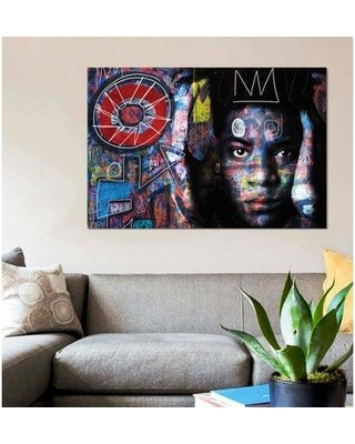"""East Urban Home 'Basquiat´s Mind' Graphic Art Print on Canvas EBHS6923 Size: 26"""" H x 40"""" W x 1.5"""" D"""