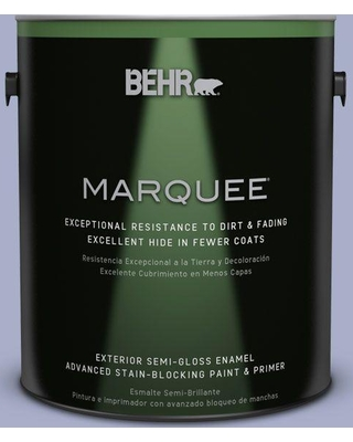 BEHR MARQUEE 1 gal. #S540-3 Meadow Phlox Semi-Gloss Enamel Exterior Paint and Primer in One