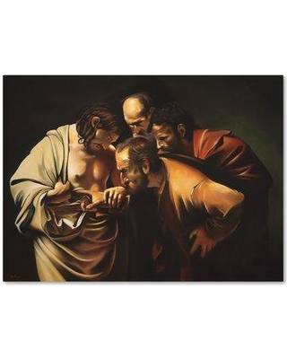 "Winston Porter 'Caravaggio' Graphic Art Print on Wrapped Canvas WNST5493 Size: 14"" H x 19"" W"