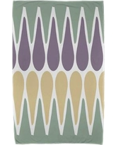 East Urban Home Beach Towel ESTW5585 Color: Green/Purple/Yellow