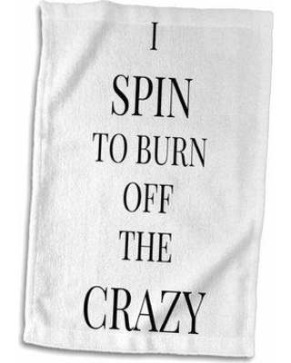 East Urban Home Malachi I Spin to Burn off the Crazy Hand Towel W001181627
