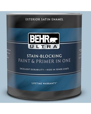 BEHR ULTRA 1 qt. #MQ5-50 Opal Waters Satin Enamel Exterior Paint and Primer in One