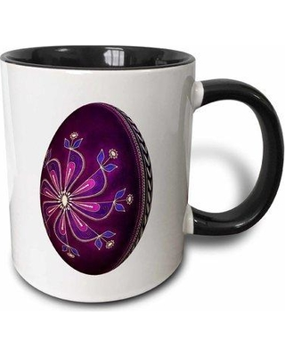 East Urban Home Dyed Pysanky Easter Egg Coffee Mug W000655153 Color: Black