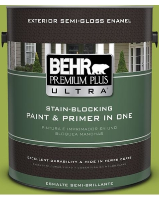 BEHR Premium Plus Ultra 1 gal. #PPU10-05 Intoxication Semi-Gloss Enamel Exterior Paint and Primer in One