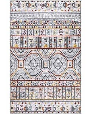 Bungalow Rose Frisch Floral Gray Area Rug X112407851 Rug Size: Rectangle 4' x 6'