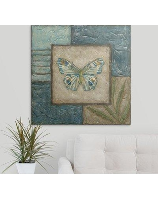 "Great Big Canvas 'Butterfly Montage II' Chariklia Zarris Painting Print 2211575_1 Size: 30"" H x 30"" W x 1.5"" D Format: Canvas"