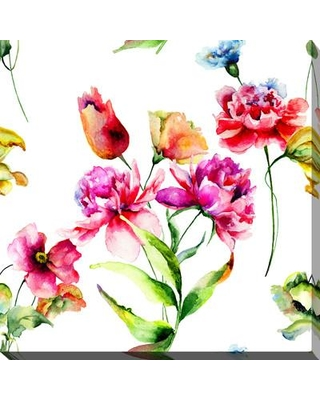 """Picture Perfect International 'Wild Flowers III' Painting Print on Wrapped Canvas 704-4055 Size: 36"""" H x 36"""" W x 1.5"""" D"""