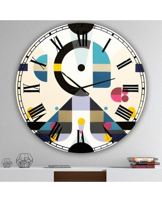 Oversized Open Minded Mid-Century Wall Clock East Urban Home Size: Medium