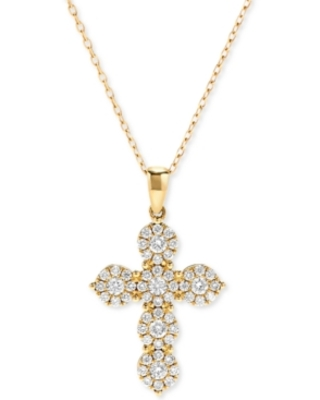 Diamond Cross Pendant Necklace (5/8 ct. t.w.) in 14K Gold or 14K White Gold