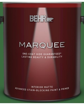 BEHR MARQUEE 1 gal. #S-H-440 Pine Scent Matte Interior Paint and Primer in One