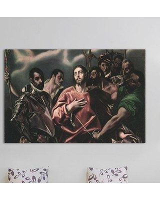 """East Urban Home 'The Disrobing of Christ' by El Greco Painting Print on Wrapped Canvas ESRB3869 Size: 12"""" H x 18"""" W x 0.75"""" D"""