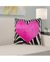 East Urban Home Etoile Harvest Punk Rockabilly Zebra Animal Stripe Pillow Cover X114572060 Color: Pink/Black