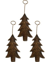 Premier Copper Products Hand Hammered Copper Christmas Tree Ornament CCOCT_PKG3