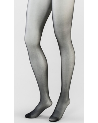 Women's Plus Size 20D Sheer Control Top Tights - A New Day Black 1X-2X