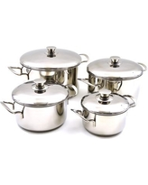 Nature Home Decor Rainbow Elite Professional Grade 8 Piece Stainless Steel Cookware Set 6186