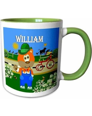 East Urban Home Stokes Decorative Bear Wearing Overalls with the Name William Coffee Mug X111688258