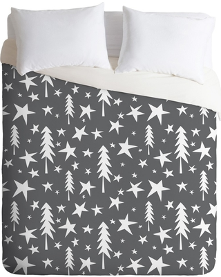 Full/Queen Heather Dutton Wish Upon A Star Gray Duvet Cover Set Gray - Deny Designs
