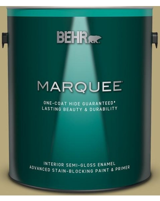 BEHR MARQUEE 1 gal. #M330-5 Fresh Brew Semi-Gloss Enamel Interior Paint and Primer in One