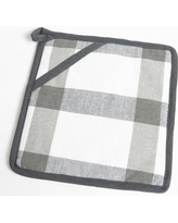 Flato Home Check Pot Holder 1400000047 Color: Grey/Charcoal