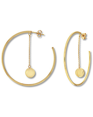 26cc7475a Amazing Deal on Dangle Hoop Earrings 10K Yellow Gold