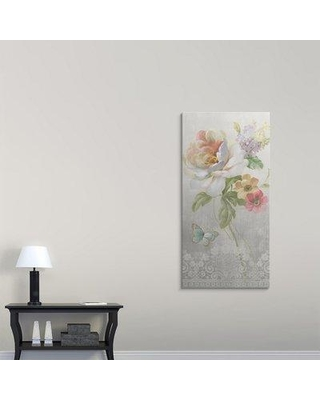 "Great Big Canvas 'Textile Floral Panel II' Danhui Nai Graphic Art Print 2276213_ Size: 60"" H x 30"" W x 1.5"" D Format: Canvas"