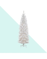 Kingswood White Fir Christmas Tree with Clear Lights