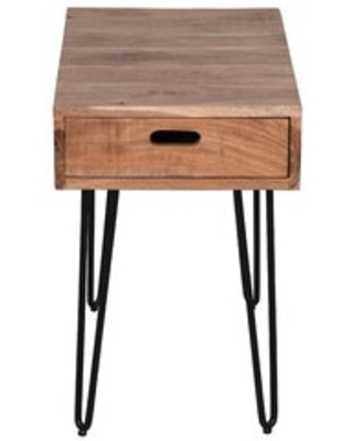 Whitby End Table with Storage Industrial Lodge Home