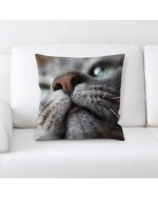 East Urban Home Cat Throw Pillow BF083741