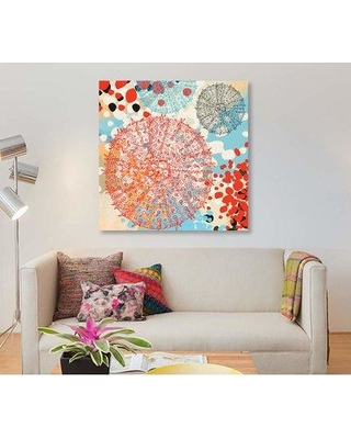 "East Urban Home 'Exotic Sea Life VI' Graphic Art Print on Canvas EBHT2290 Size: 26"" H x 26"" W x 0.75"" D"
