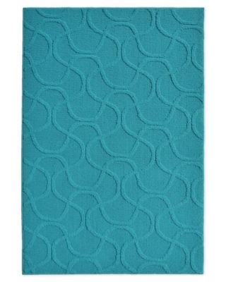 Brentwood Drizzle 3'7 x 5'5 Area Rug in Teal
