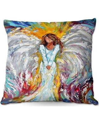 "Winston Porter Paquette Couch Angel Watching over Me Throw Pillow W000369781 Size: 18"" x 18"""