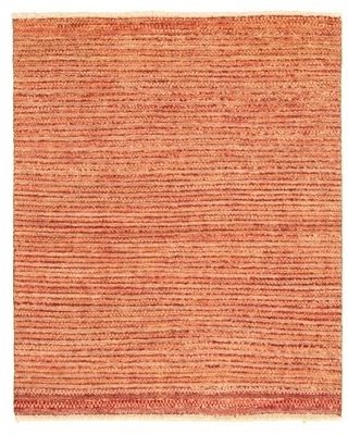 """One-of-a-Kind Phi Hand-Knotted 2010s Ziegler Red/Ivory 4' x 4'10"""" Wool Area Rug Ebern Designs"""