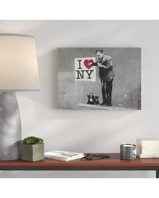 """Wrought Studio 'I Love NY Doctor II' Graphic Art Print on Wrapped Canvas BI040686 Size: 30"""" H x 40"""" W x 1.5"""" D"""