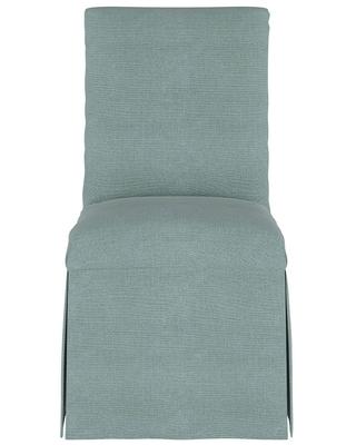 Shop Slipcover Dining Chair Linen Seaglass Simply Shabby Chic