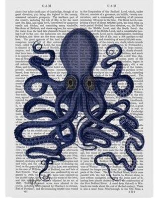"""Winston Porter 'Octopus 9' Graphic Art Print on Wrapped Canvas WNPO3909 Size: 32"""" H x 24"""" W x 2"""" D"""