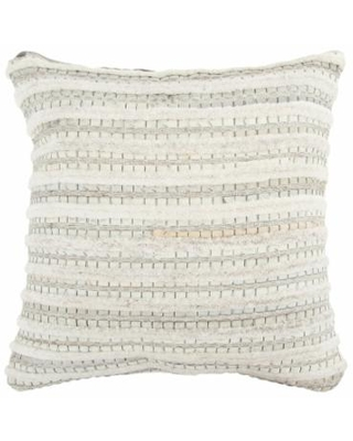 Rizzy Home Game Throw Pillow, Beig/Green, 20X20
