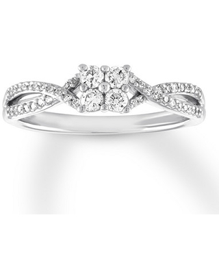 Kay Outlet Jewelers Diamond Promise Ring 1/4 ct tw Round-cut 10K White Gold  from Kay Jewelers | more