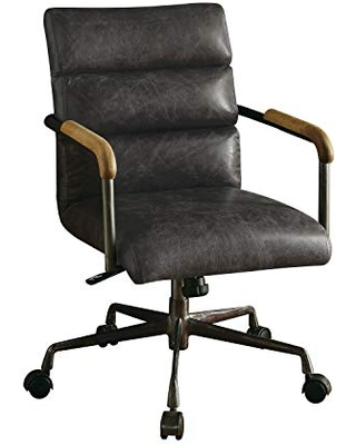 ACME Harith Executive Office Chair - 92415 - Antique Slate Top Grain Leather