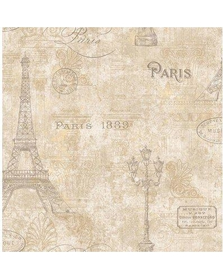 """Ophelia & Co. Dorcheer 33' L x 20.5"""" W Wallpaper Roll BF133747 Color: Taupe/Gray/Gold"""
