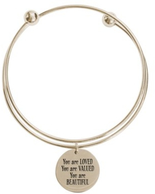 You are loved double layer bangle